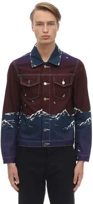Le Port De Casablanca Print Denim Jacket