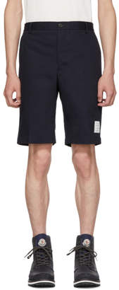 Thom Browne Navy Twill Unconstructed Chino Shorts
