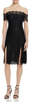 Whistles Off-The-Shoulder Lace Dress - 100% Bloomingdale's Exclusive $470 thestylecure.com