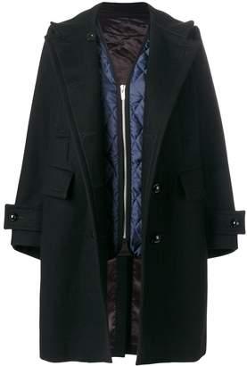 Sacai double breasted coat