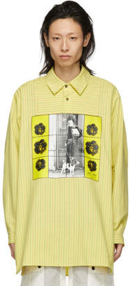 J.W.Anderson Yellow Gilbert and George Edition Printed Tunic Shirt