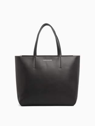 Calvin Klein sculpted zip tote bag