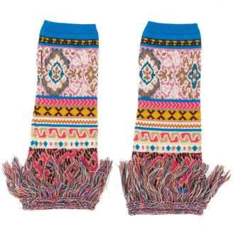 Etro intarsia knit fingerless gloves