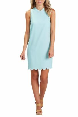 Mud Pie Turq Scallop Shift Dress $56 thestylecure.com