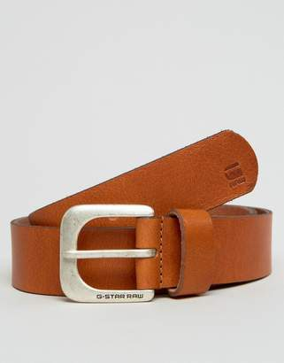 G Star G-Star Zed Leather Belt In Tan