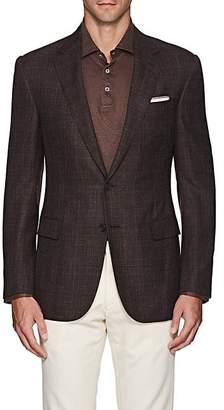 Ralph Lauren Purple Label Men's Plaid Basket-Weave Wool-Blend Sportcoat - Brown