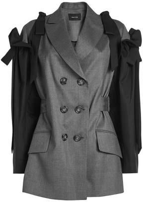 Simone Rocha Virgin Wool Jacket with Bow Sleeves