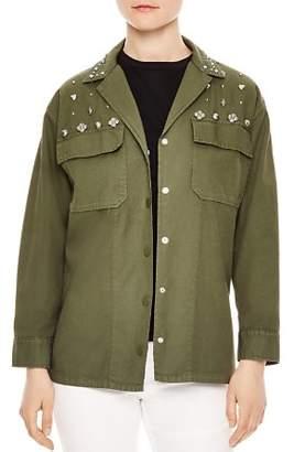 Sandro Karouna Studded Military-Style Jacket