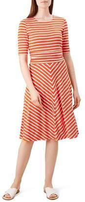 Hobbs London Bayview Tie-Waist Striped Dress