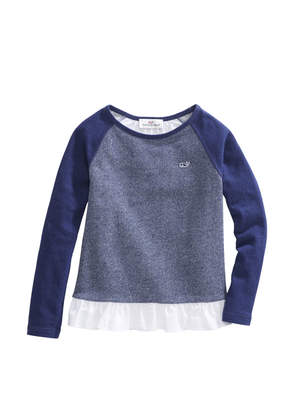 Vineyard Vines Girls Mixed Media Top