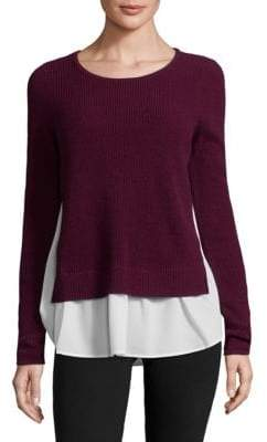 Design History Cashmere Two-Fer Sweater