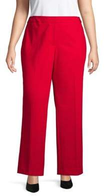 Calvin Klein Plus Classic Wide-Leg Pants