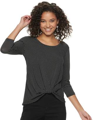 Candies Juniors' Candie's Knot Front Top