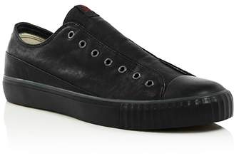John Varvatos Bootleg Men's Laceless Low-Top Leather Sneakers