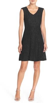 Women's Ellen Tracy Lace Fit & Flare Dress $128 thestylecure.com