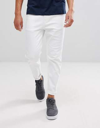 Asos Tapered Jeans In White