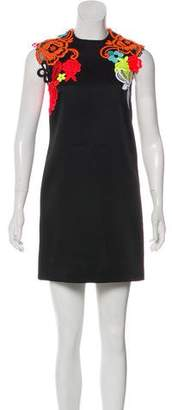 Christopher Kane 2016 Embroidered Mini Dress
