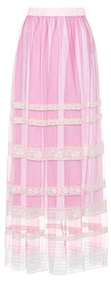 Burberry Lace-trimmed tulle skirt