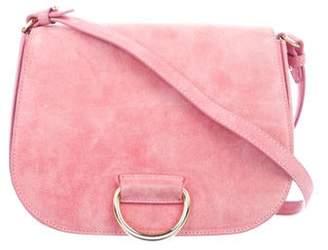 cda3cd79a Little Liffner Medium Saddle Suede Shoulder Bag
