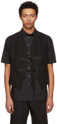 Isabel Benenato Black Military Gilet Vest
