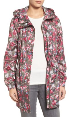 Women's Joules Right As Rain Packable Print Hooded Raincoat $74.95 thestylecure.com