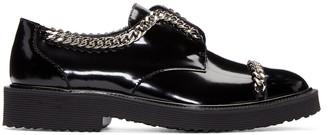 Giuseppe Zanotti Black Patent Leather Chain Derbys $895 thestylecure.com