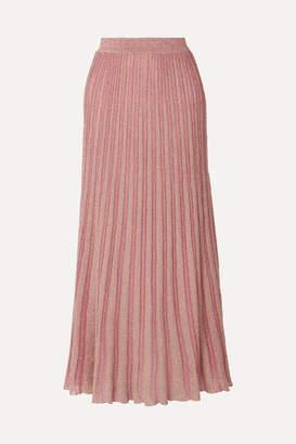 Missoni Metallic Striped Crochet-knit Maxi Skirt - Pink