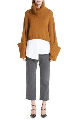 Monse Half & Half Denim & Trouser Pants