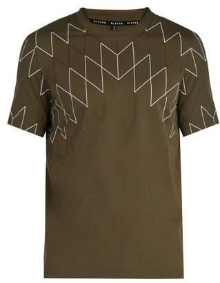 BLACKBARRETT by NEIL BARRETT Geometric Print Cotton T Shirt - Mens - Khaki