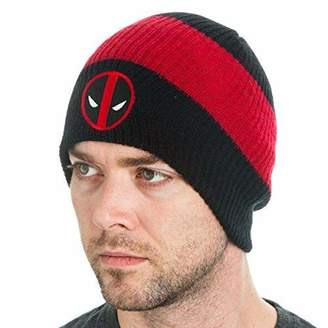 Bioworld Marvel Comics DeadPool Logo Roll Slouch Beanie Cap Hat Costume Cosplay