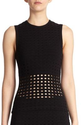 T by Alexander Wang Perforated Tank $160 thestylecure.com