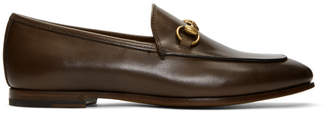 Gucci Brown Jordaan Classic Loafers