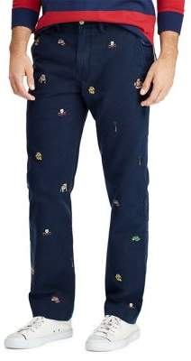 Polo Ralph Lauren Embroidered Cotton Classic-Fit Chino Pants