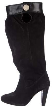 Michael Kors Suede Round-Toe Mid-Calf Boots