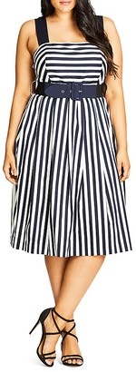 City Chic So Fab Striped Dress $99 thestylecure.com