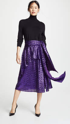 Prabal Gurung Nima Sequin Tie Waist Skirt
