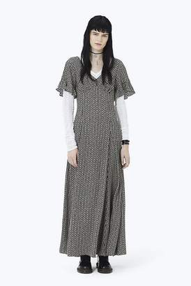 Marc Jacobs Flower Chain Ruffle Long Dress