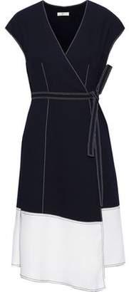 Joie Mahesa Two-tone Crepe Wrap Dress