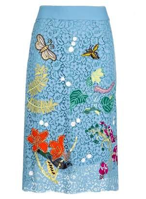 Essentiel Lace Midi Skirt
