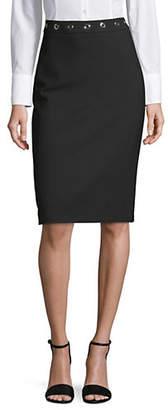HUGO Raneta Midi Pencil Grommet Skirt