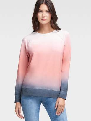 DKNY Long-Sleeve Ombre Pullover
