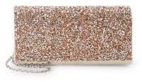 La Regale Textured Logo Clutch