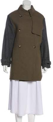 A.L.C. Wool-Accented Knee-Length Coat