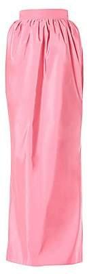 Carolina Herrera Women's Gathered Silk Maxi Skirt
