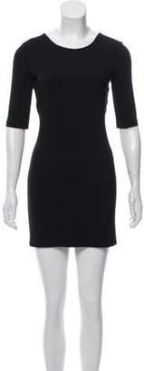 Calvin Klein Collection Short Sleeve Mini Dress Black Short Sleeve Mini Dress