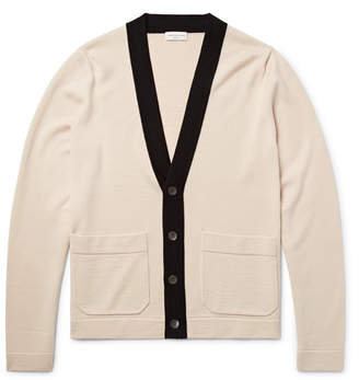 Dries Van Noten Contrast-Trimmed Merino Wool Cardigan