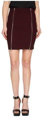 McQ Bodycon Zip Short Skirt Women's Skirt