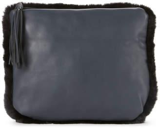 La Regale Faux Fur Tassel Clutch