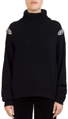 The Kooples Beaded-Shoulder Turtleneck Sweater
