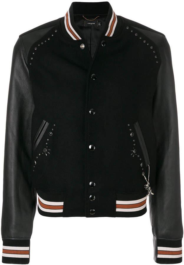 embellished varsity jacket